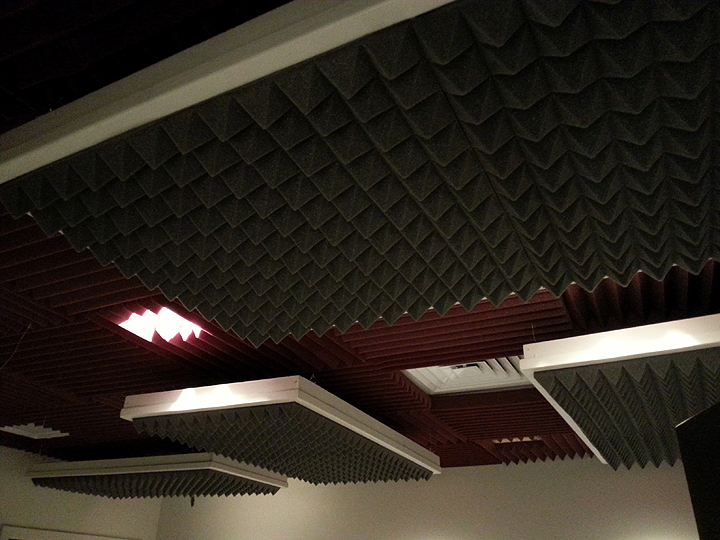 Acoustic Ceiling Panels at JumpDog Audio Productions